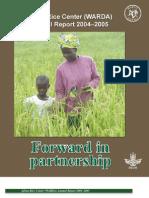 AfricaRice Annual Report 2004-2005