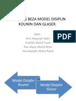 BANDING BEZA MODEL DISIPLIN KOUNIN DAN GLASER