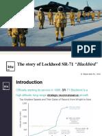 The Story of Lockheed SR71 Blackbird