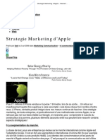 Strategie Marketing d'Apple - Marketing 2