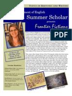 2011 Summer Scholars Flyer
