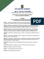 Legea 247-2005 Privind Reforma in Domeniile Proprietatii Si Justitiei