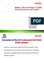 Cola Wars Continue Coke and Pepsi in 2006 by Group C
