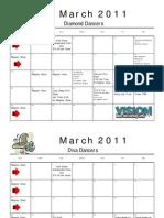 March Calendars