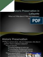 Lafayette Historic Preservation_BMB