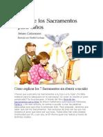 Cómo explicar los 7 Sacramentos sin aburrir a un niño