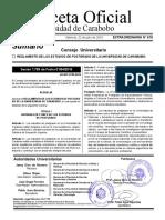 Reglamento de estudios de Postgrado GacetaOficial UC