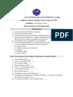 1era Primera practica de Matematica 0140. UASD