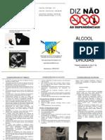 Folheto da Actividade Alcoolismo Tabagismo e Toxicodependência