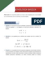 Terminologia Basica de Ecuaciones