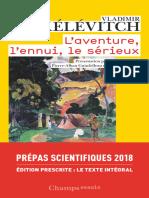 LAventure, lEnnui, le Sérieux by Vladimir Jankélévitch (z-lib.org)