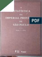 José Antonio Teixeira Cabral - Estatística Da Real Província de São Paulo, Tomo 1º, 1827