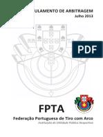 20130729 Regs Regulamento de Arbitragem Jul2013
