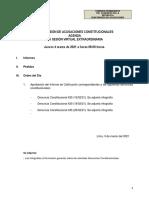 Agenda Subcomisión de Acusaciones Constitucionales 4 de marzo 2021