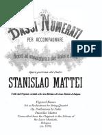 Mattei Bassi Numerati 1850