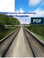 HS2 Assessment of sustainability - technical reports