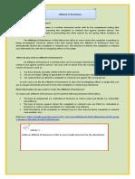 Affidavit of Desistance- Module