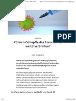 nCoV - Impfung - 2021-01-14 - Können Geimpfte das Coronavirus weiterverbreiten? - SWR Wissen