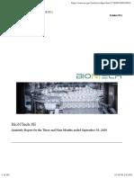 nCoV - Impfung - BionTech - Quartalsbericht 2020-09