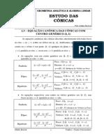 11 ENCONTRO - AULA 11 - ESTUDO DAS CONICAS - PRE AULA