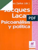 2 Zarka Yves Charles Dir-Jacques Lacan Psicoanálisis y Política-Nueva Visión