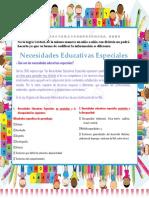Necesidades educativas asociadas y no asociadas a la discapacidad