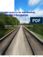 HS2 approaisl of sustainability - greenhouse gas emissions