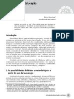 Aula 5. Texto Vidal e Maia (2010). Tecnologias Na Educação