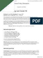nCoV - Med - 2020-08-06 - Zur Behandlung von Covid-19 – Swiss Policy Research