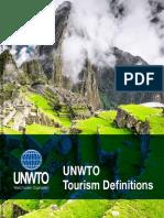 Definiciones de Turismo de La OMT PDF