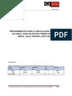 QPEXT-002 Procedimiento para la instalacion del cable ADSS en estructuras aereas- Rev1