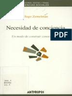 Zemelman, Hugo. Necesidad de consciencia