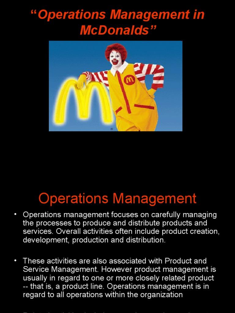 case study mcdonalds operation management