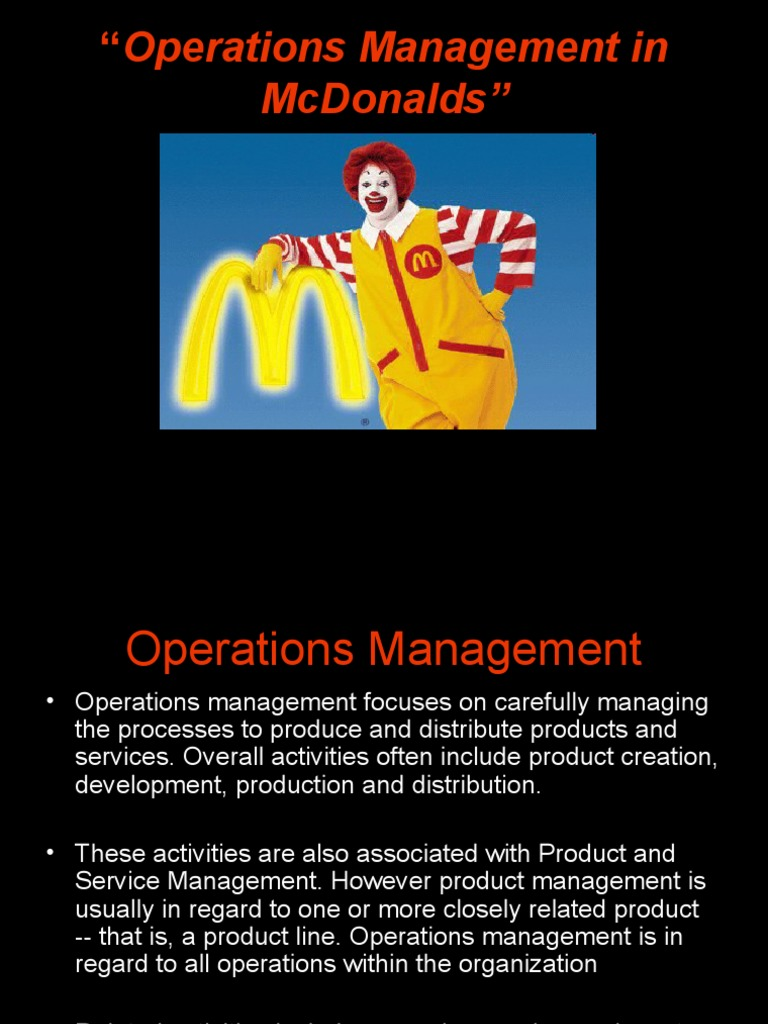 mcdonalds organization