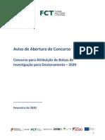Bolsas 2020 AvisoAberturaConcurso PT