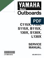 Yamaha c115 Outboard Service Manual