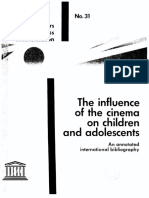 The Influence of the Cinema on Children and Adolescents