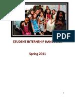 ALL PROGRAMS Student Teaching Internship Handbook 2010-2011 32084 (2)