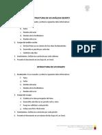 Estructura de Análisis Escrito y Ensayo