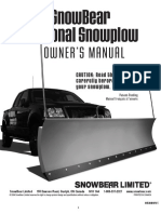 SnowBear Personal Snowplow 2008 Owner's Manual (English and French)