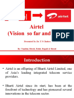 Airtel Vision so far and ahead