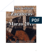 Agenda Cultural Zacatecas Marzo 2011