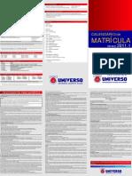 UNIVERSO_Calendario_Matricula_2011_1sem_NT