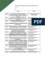 Scheme of Work Marketing
