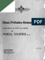 Tournier Deux Preludes Romantiques Complete