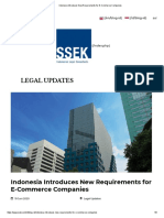 Indonesia Introduces New Requirements for E-Commerce Companies
