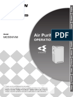 PURIFICADOR DAIKIN MC55W 3PES595629-1 Operation Manual Spanish