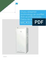 PURIFICADOR DAIKIN MCK55W EEDES20 Data Books Spanish