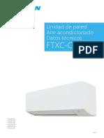 Sensira FTXC-C EEDES20 Data Books Spanish