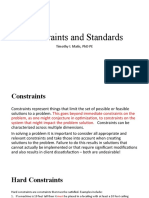 Constraints and Standards (1)